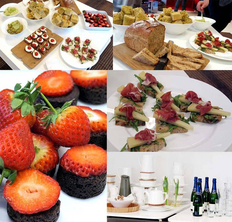 Det var herlig mat og drikke da PR-byrået House of Communication presenterte vår-nyhetene i dag. Her kan dere la dere inspirere av de flotte produktene som er i salg i butikkene utover våren. Flott mat fortjener å bli servert på flott servise:-)