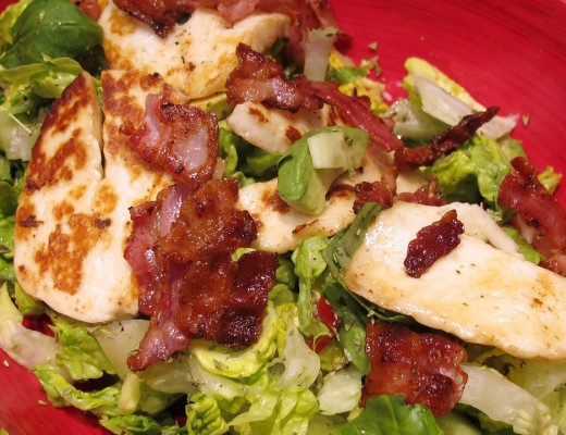 salat 520x400 - Salat med bacon og haloumi