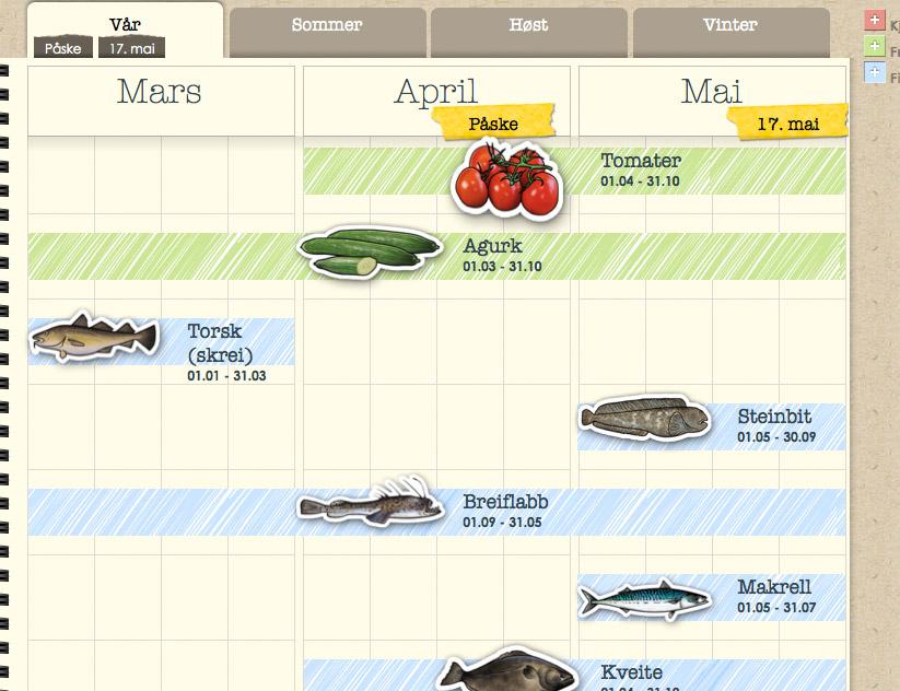 agenda - sesongkalender
