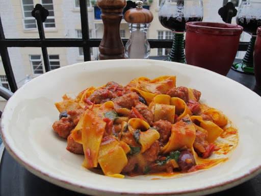 spagetti22 - pasta med ferske pølser