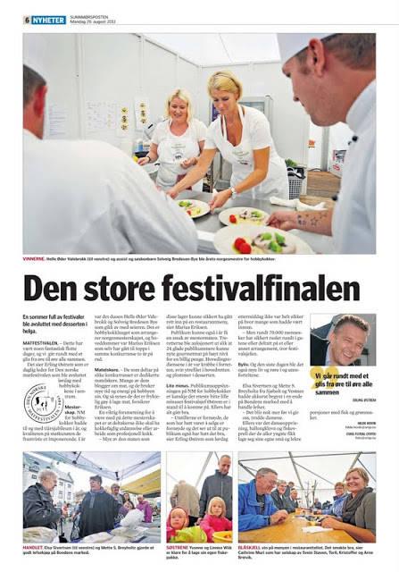 matfestival - NM-reportasje fra Sunnmørsposten