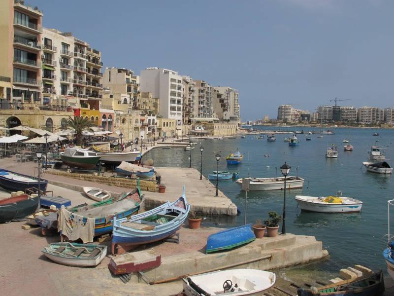 Spinola Bay, Malta.