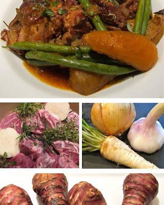 lammenam2 320x400 - Lammenam med bacon, gulrøtter, bønner og jordskokk- og potetpuré.
