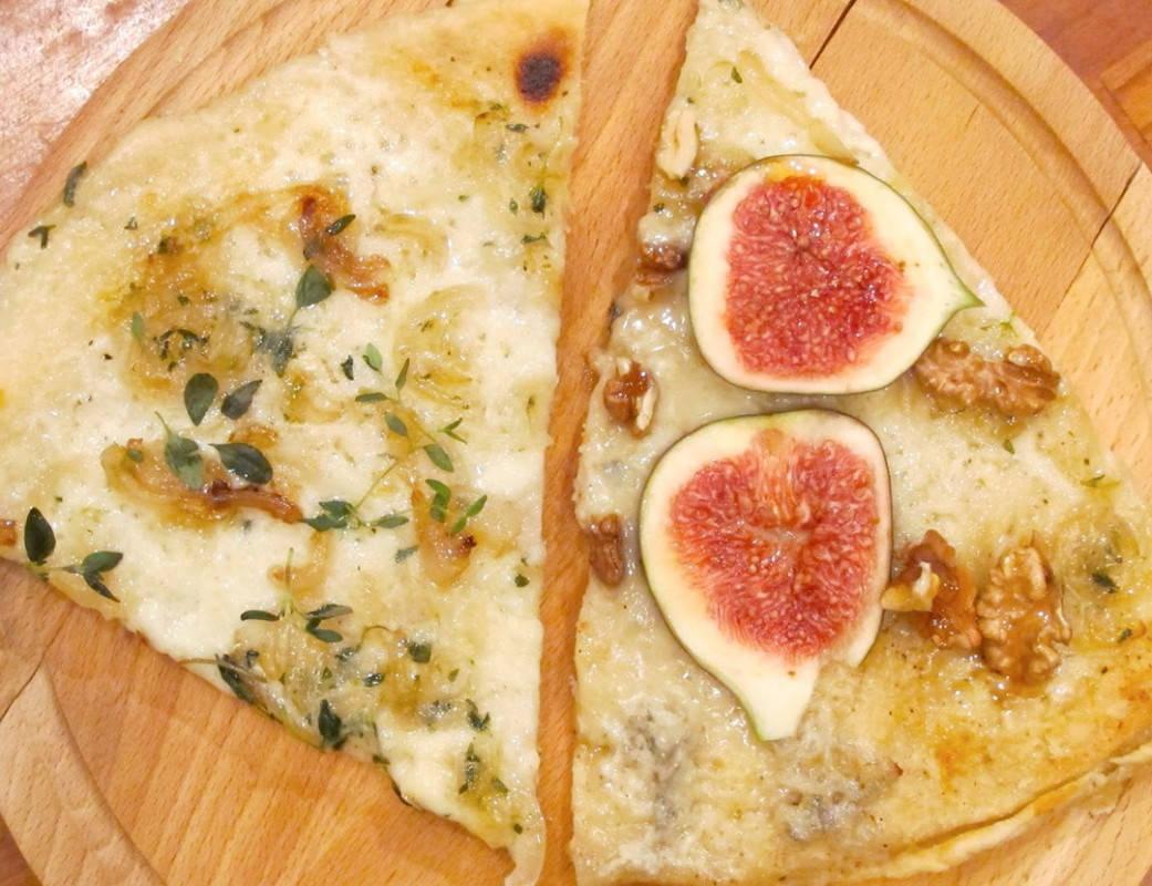 pizza - Pizza til middag og pizza til dessert.