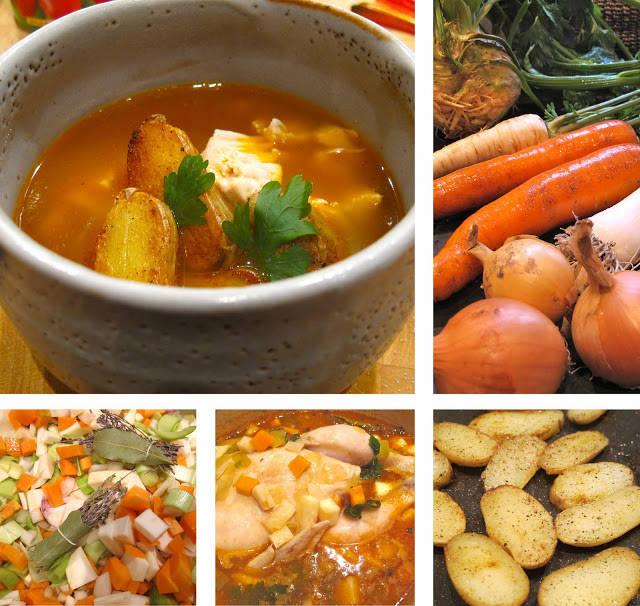 suppe2 - Kyllingsuppe med karripoteter