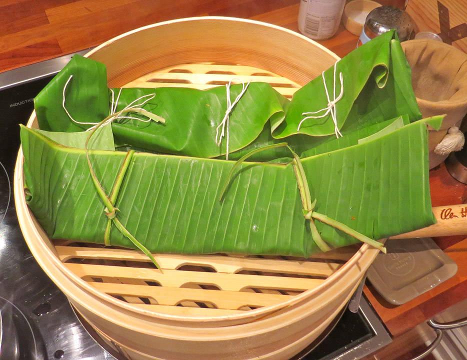 fisk i bambusdamper
