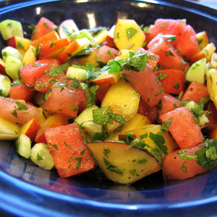 fruktsalat til kjøttrett