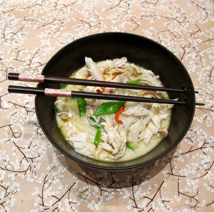 img 0549 - Thai-kyllingsuppe med risnudler
