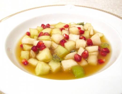 Fruktsalat med krydderlake