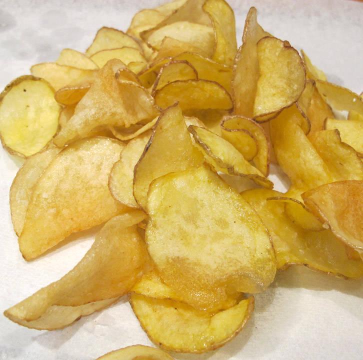 Friterte poteter. Tre typer.
