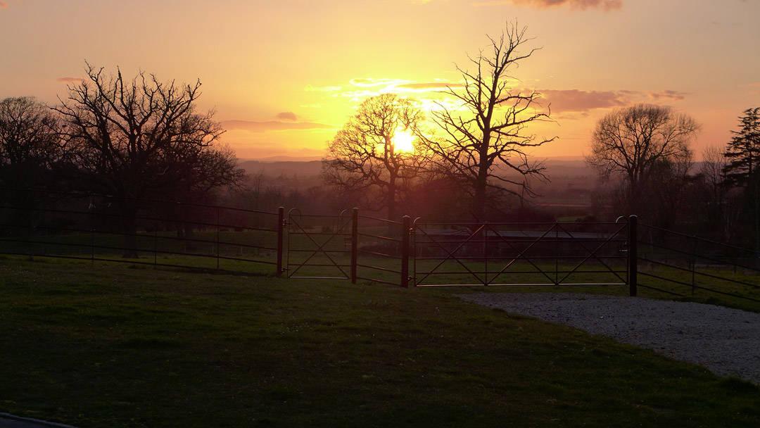 Vakker solnedgang fra Ellenborough Park