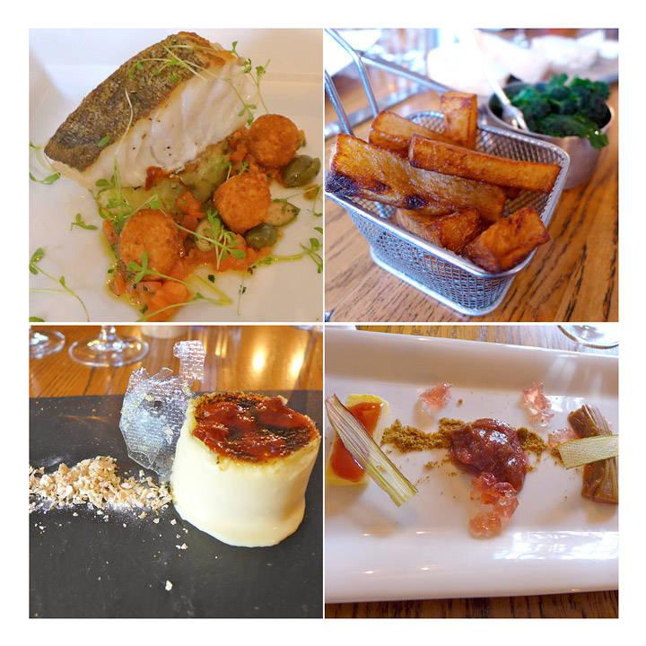 Sjøtunge med kapers, kamskjell, lam med brissel, tre typer supper, innbakte asparges med eggeplomme.