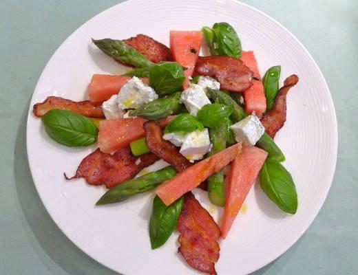 Baconsalat med vannmelon