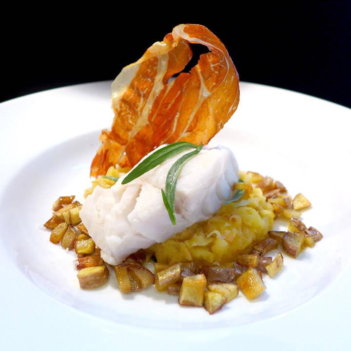 l1020087 - Gourmetmåltid på 15 minutter: Torsk med eple, potet og norsk spekeskinke