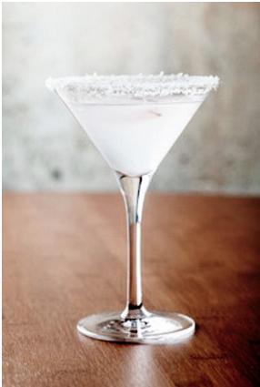 'Ho'rny Devil Her er oppskriften på cocktailen: 25ml SitrongressVodka 25ml chilliinfusert Vodka 25ml kokosvann 10ml Lemongrass-sirup Pynt med kokos på kanten og en sterk chili.