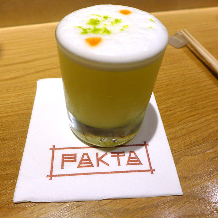 Nydelig cocktail. Yuzu Sour.