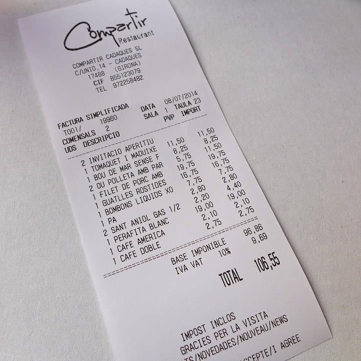 Og dette ble jo ikke dyrt. Hadde en flaske vin også:)