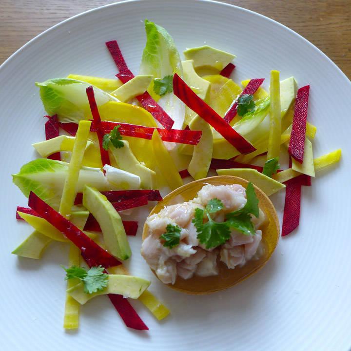 l1030817 - Ceviche av makrell med betesalat