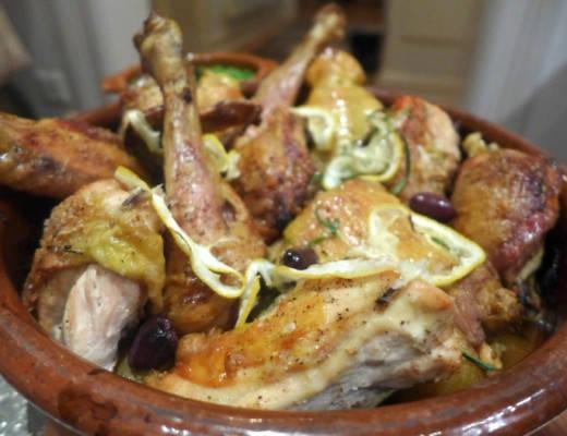 kylling 520x400 - Ovnstekt kylling med sitron, oliven og rosmarin