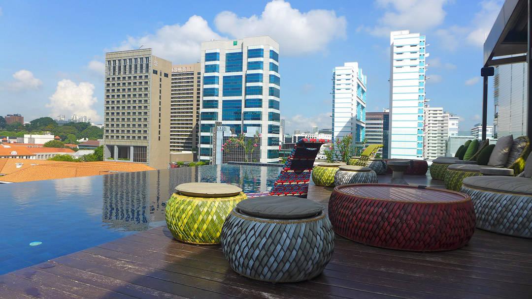 Taket på Naumi Hotel.