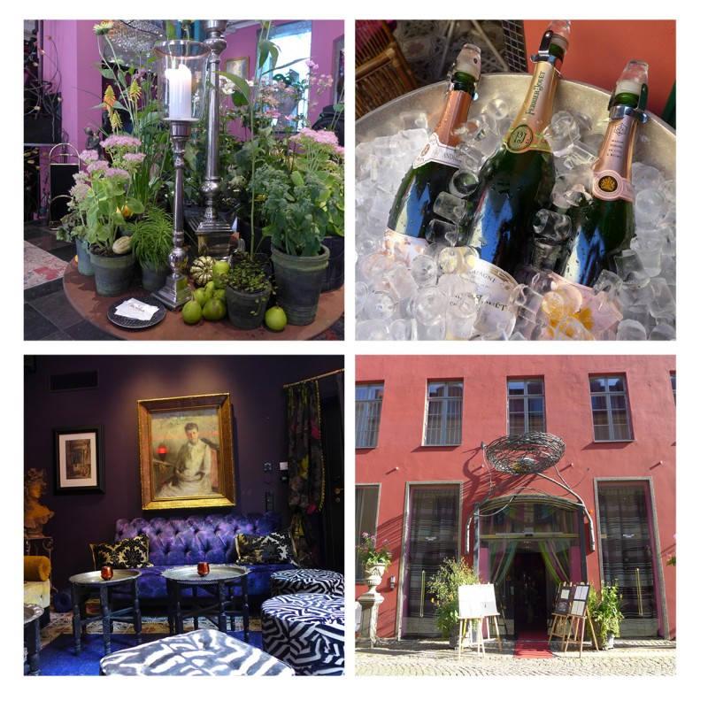 På Hotel Dorsia kan du drikke champagne på taket i designer-båser eller spise i restauranten. For et fantastisk sted.