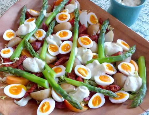 L1150187 520x400 - Gourmetsalat med chorizo, vaktelegg og estragonmajones