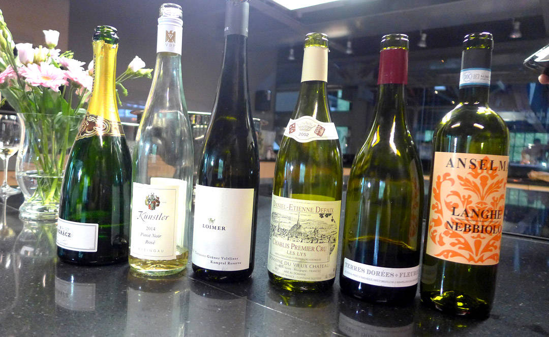 Vinenesom vi smakte i rekkefølge (fra venstre til høyre)