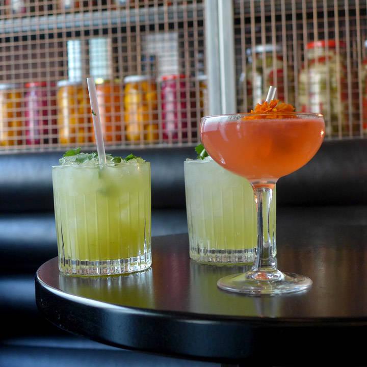 Punch. Drunk. Love: Sommeraquavit, Campari, Sitronsaft og appelsinlikør.