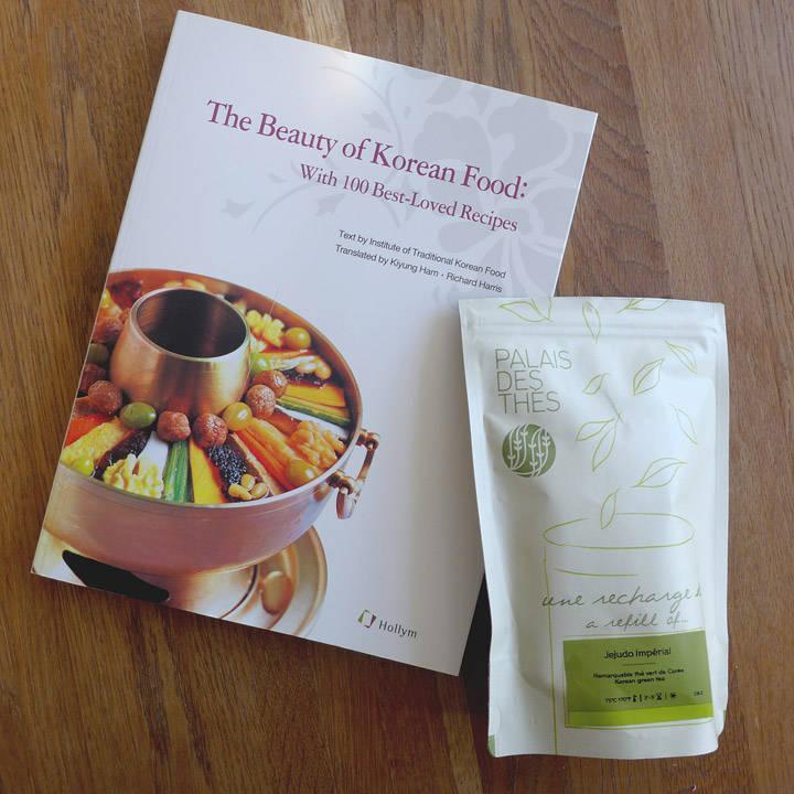 Koreansk te fra Palais de Thés og en flott kokebok.