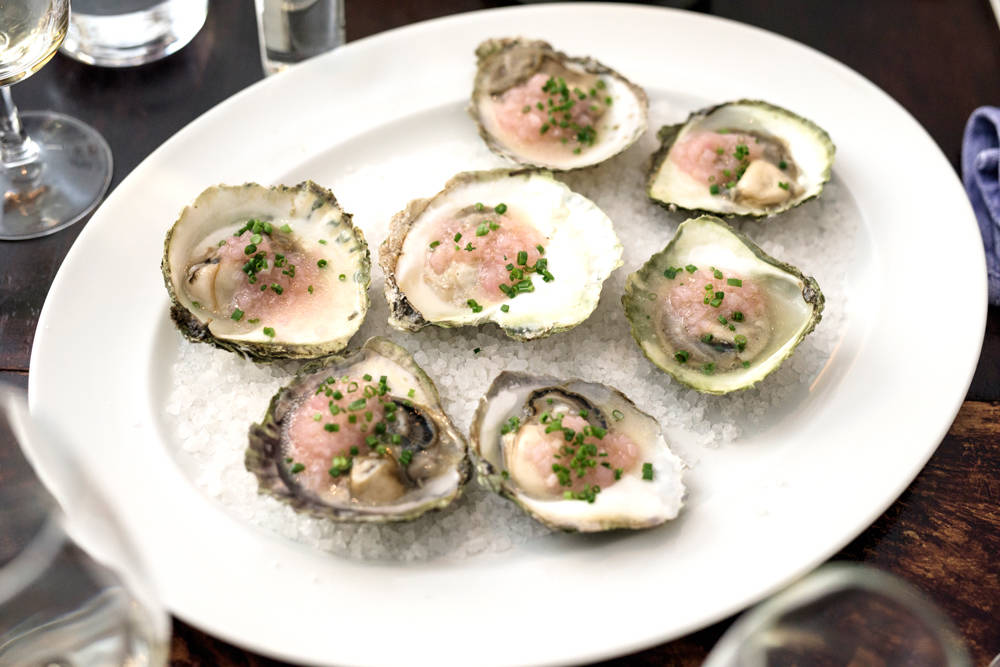 Dillakevitt til østers. Yummy. (foto: Erik Five)
