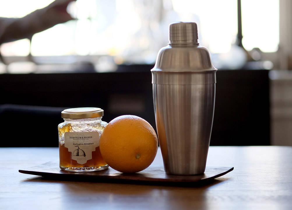 Shaker, appelsiner og marmelade.