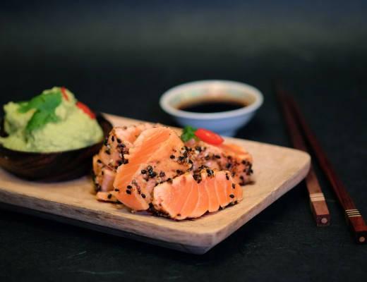 DSCF4567 520x400 - Lynstekt laks med Wasabi & Sesame-skorpe