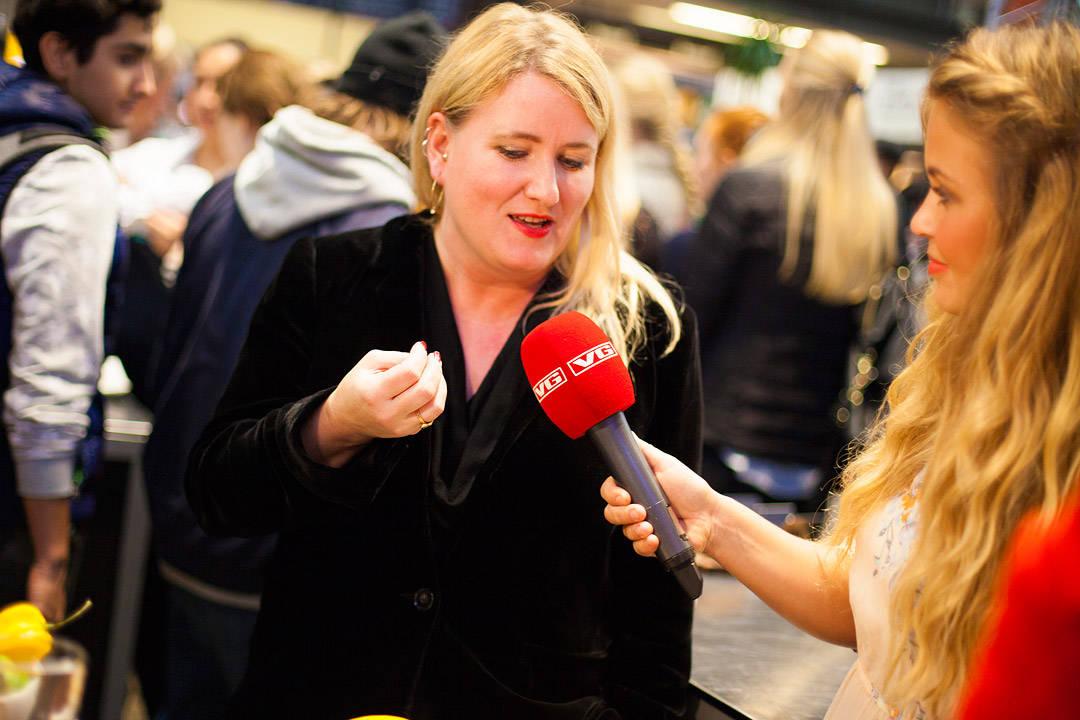 Intervju med VGtv. Foto: Lisa Bjørheim