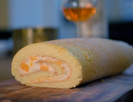 DSCF5672 520x400 - Rullekake med nøttekrem og mango og en fantastisk dessertvin