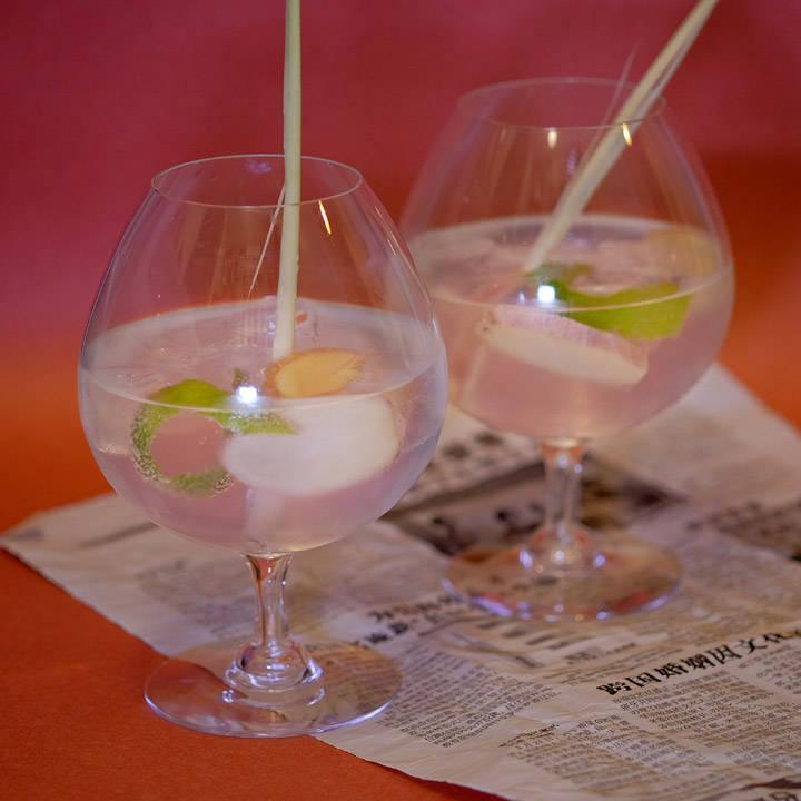 Asiatiskinspiret gin og tonic.