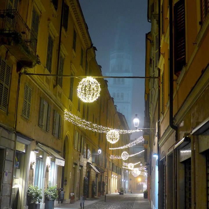 Tåke i Modena også.