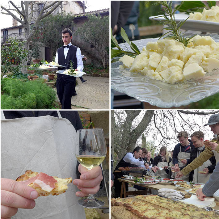 Oster, skinker, vin og godt humør. En perfekt dag.