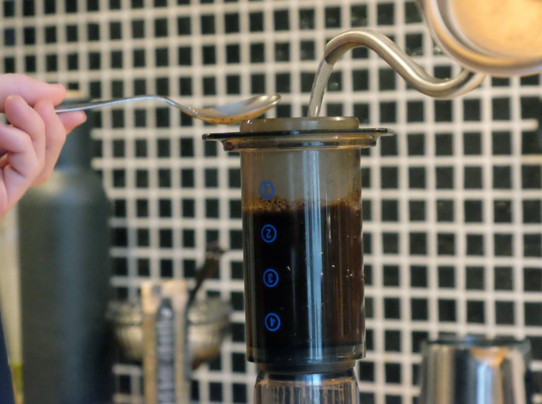 perfekt grønn kaffebønne kaffe med bønner