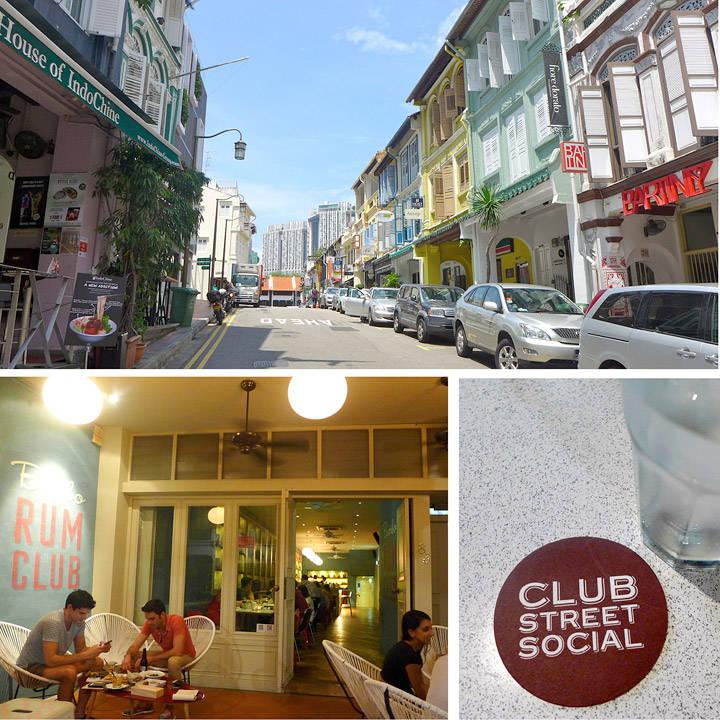 Club Street er partygata! Lett å huske pga av navnet også. The Rum Club er en ny og trendy rom-bar. Club Street Social er et bra sted for en snack eller et glass.