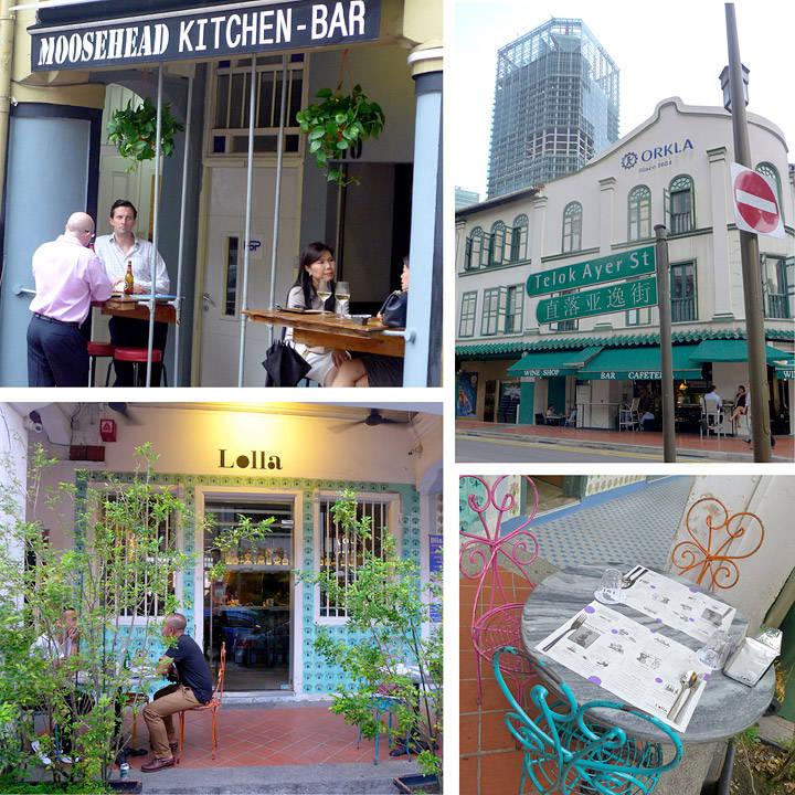 Telok Ayer er også en fin gate for å spise og drikke godt. Lolla i Ann Siang Rd (krysser Club Street) drives av folka bak Lollapolluza, André og Burnt Ends.
