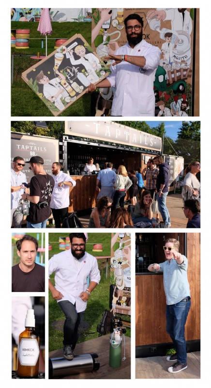Alex Ruas forteller om prossessen fra idé til ferdig resultat. Sam Millin fra Behind Bar Consulting (portrett til venstre) fortalte om samarbeidet med Bacardi og HIMKOK. Jesper Høst (nederst til høyre) i kjent stil. Trønder og blid! We like!
