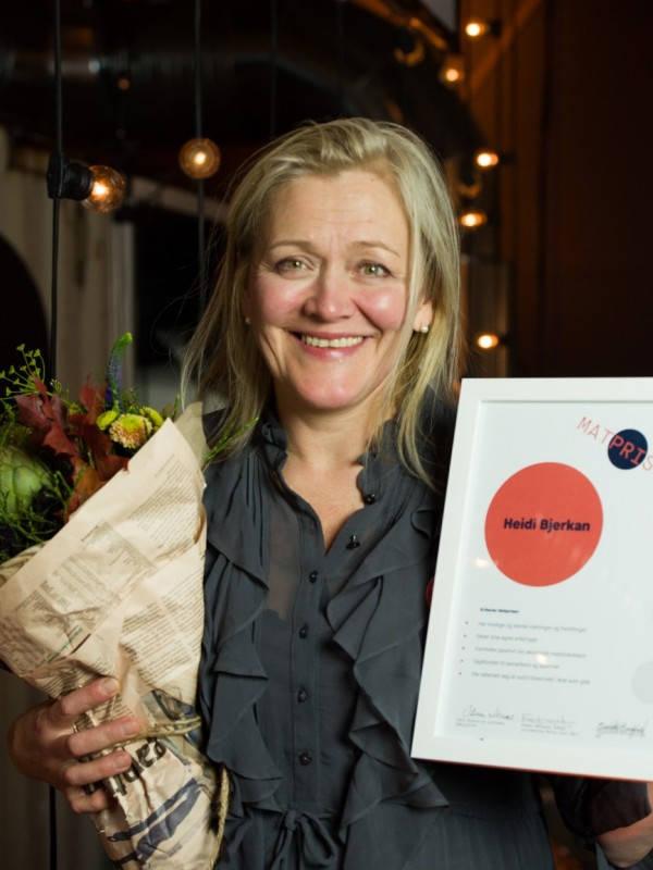 Matprisen - Heidi Bjerkan fikk Matprisen 2017